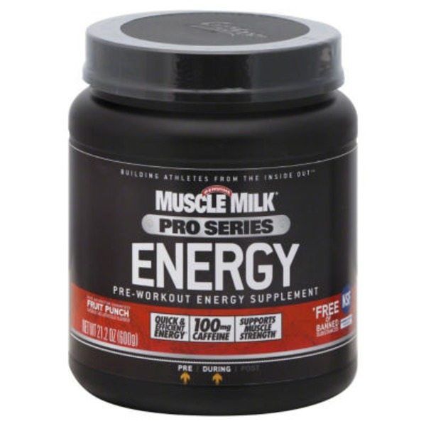 Muscle Milk Pro Series Energy Powder Fruit Punch