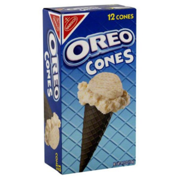 Nabisco Oreo Chocolate 12 Ct Ice Cream Cones