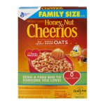Honey Nut Cheerios™ Gluten Free Cereal Family Size 21.6 oz Box, 21.6 OZ