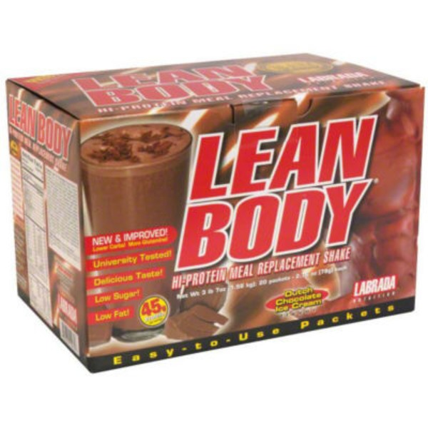 Labrada Nutrition Lean Body Dutch Chocolate Ice Cream Hi Protein Meal Replacement Shake