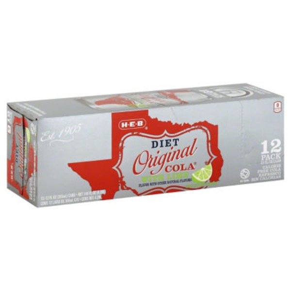 H-E-B Diet Original Cola With Lime