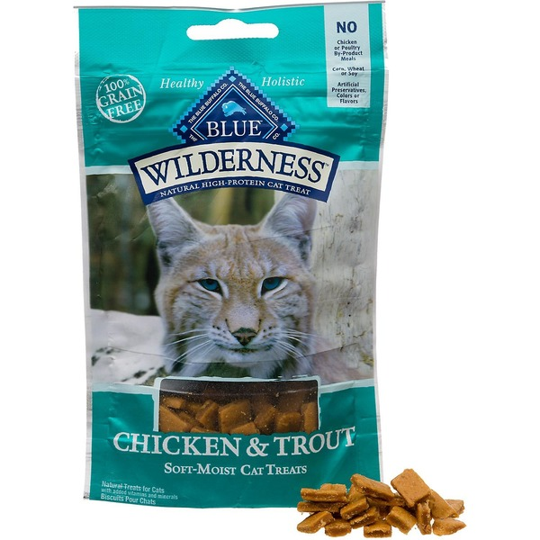 Blue Buffalo Cat Treats Soft-Moist Chicken & Trout Recipe