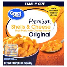 Great Value Premium Shells & Cheese, Family Size, 24 oz