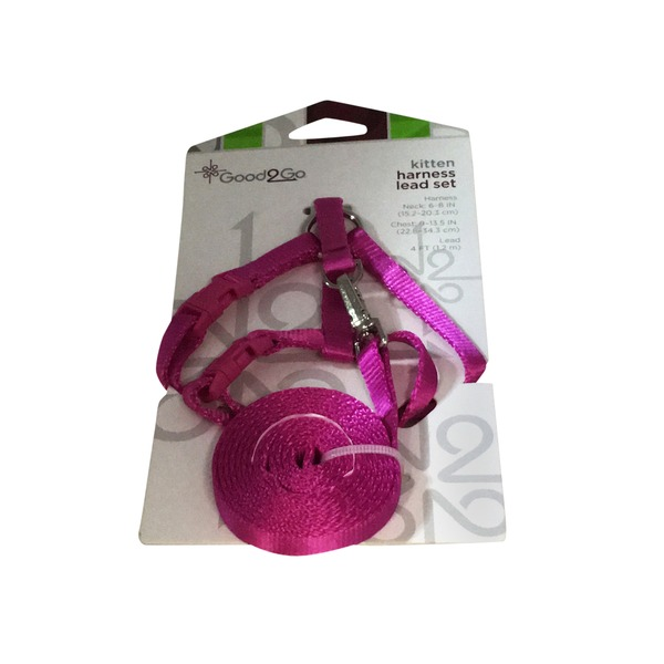 Good 2 Go Pink Kitten Harness Lead Set