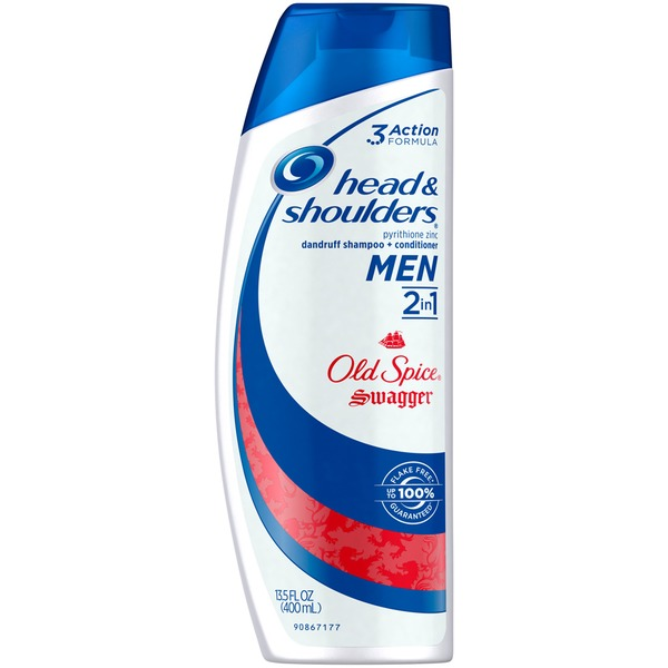 Head & Shoulders Old Spice Head and Shoulders Old Spice Swagger 2-in-1 Anti-Dandruff Shampoo + Conditioner for Men 13.5 Fl Oz Female Hair Care
