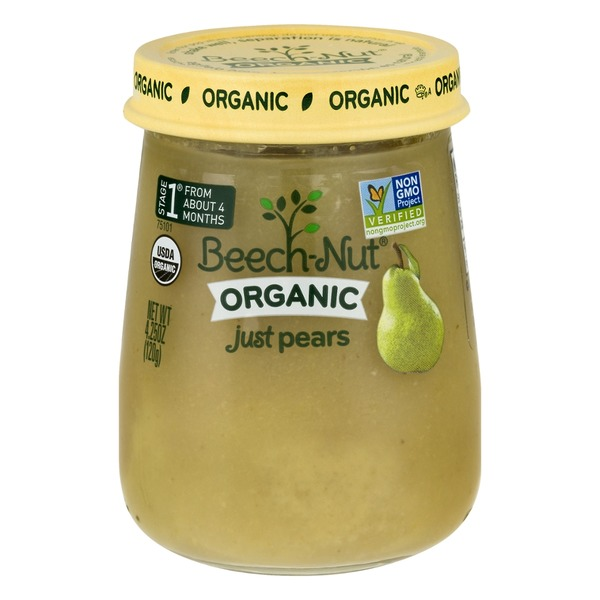 Beech-Nut Organic Stage 1 Just Pears