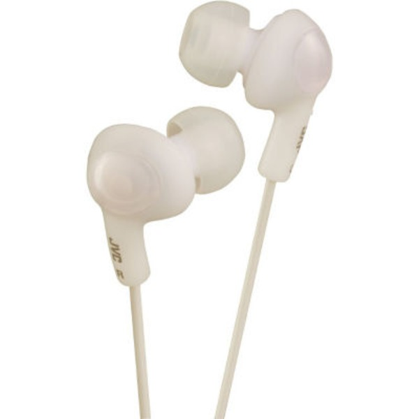 JVC Gummy Plus Stereo Headphones, Noise Isolation, Coconut White