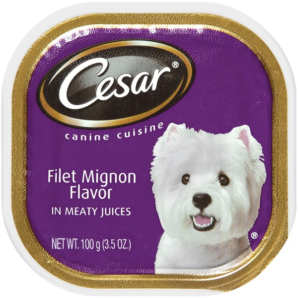 Cesar Filet Mignon Flavor In Meaty Juices Wet Dog Food