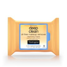 Neutrogena Deep Clean Oil-Free Makeup Remover Cleansing Face Wipes, 25 Count
