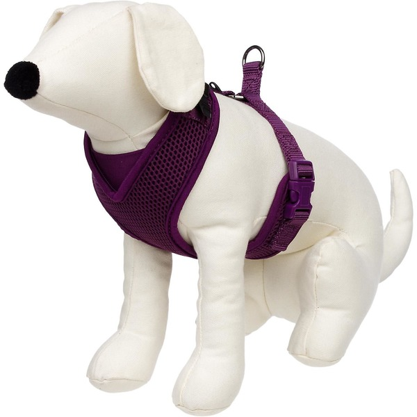 Petco Adjustable Mesh Harness For Dogs In Plum