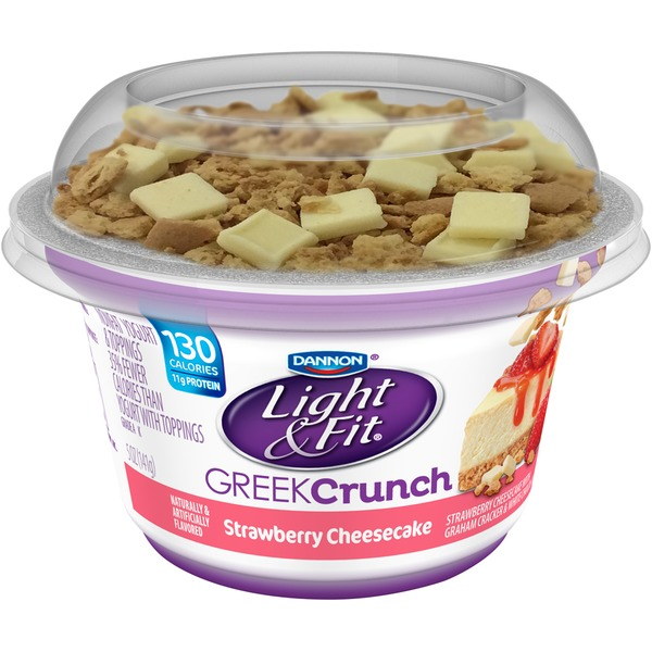 Light & Fit Greek Greek Crunch Strawberry Cheesecake with Toppings Nonfat Yogurt