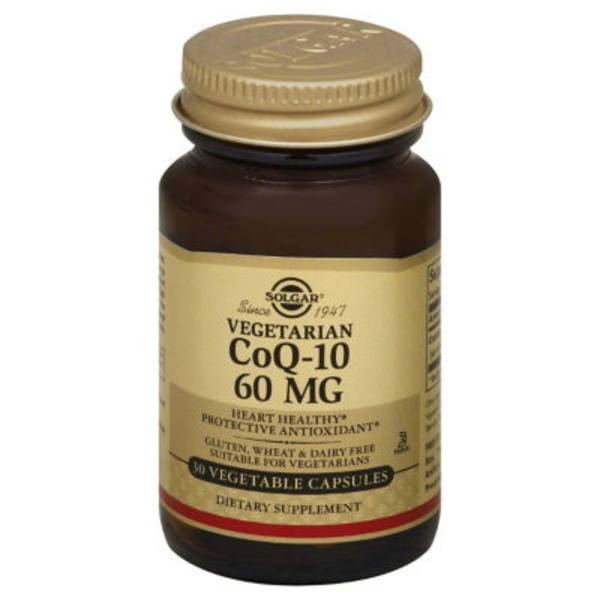 Solgar CoQ-10 60 mg Vegetable Capsules