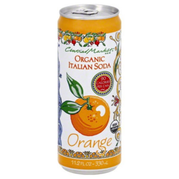 Central Market 90 Calorie Organic Italian Soda Orange