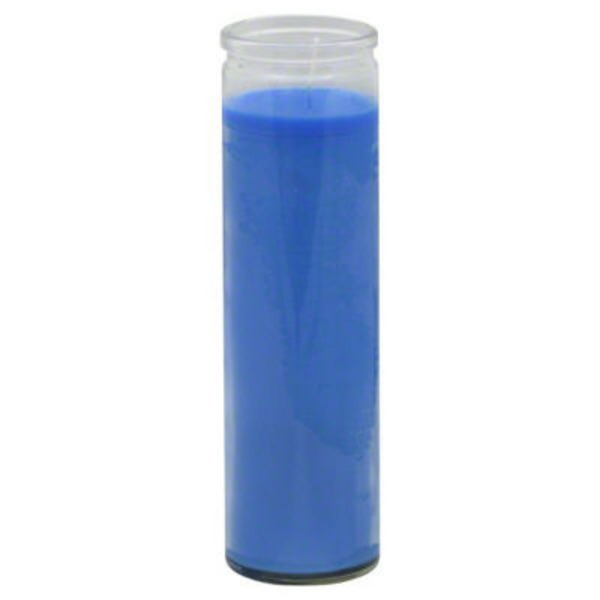 Reed Candle Company Clear Glass Blue Wax Candle