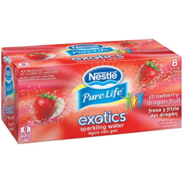 Nestlé Pure Life Exotics Strawberry Dragon Fruit Sparkling Water