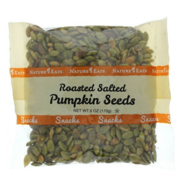Nature's Eats Roasted Salted Pumpkin Seeds