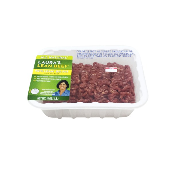 Laura's Lean 8% Fat Ground Beef