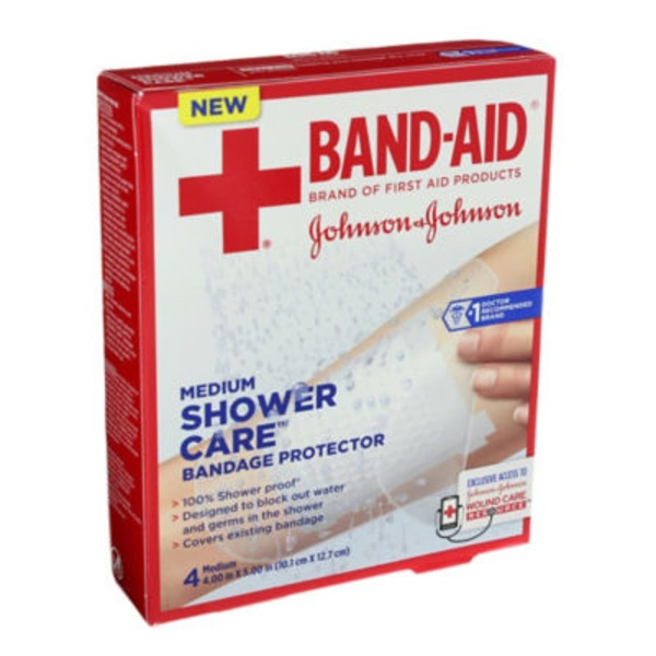 Band Aid® Brand Of First Aid Products Showercare Medium Bandage Protectors