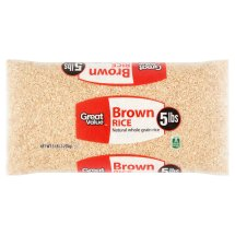 Great Value Brown Rice, 5 lb