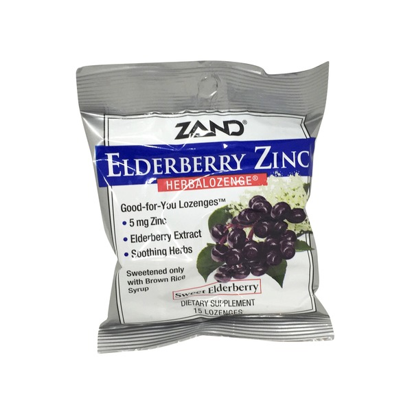 Zand Elderberry Zinc Herbalozenge Sweet Elderberry