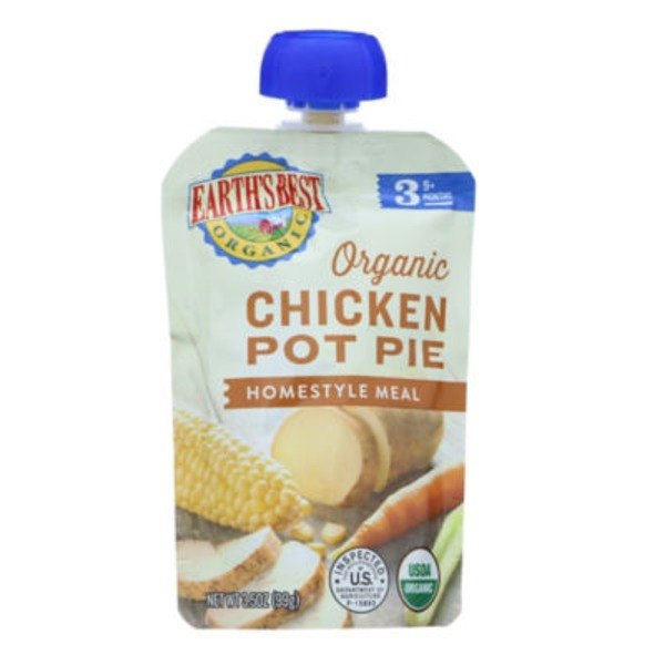 Earth's Best Organic Chicken Pot Pie Homestyle Meal 9+ Months