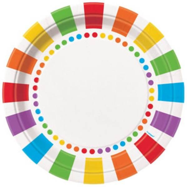 Unique Rainbow Birthday Plate