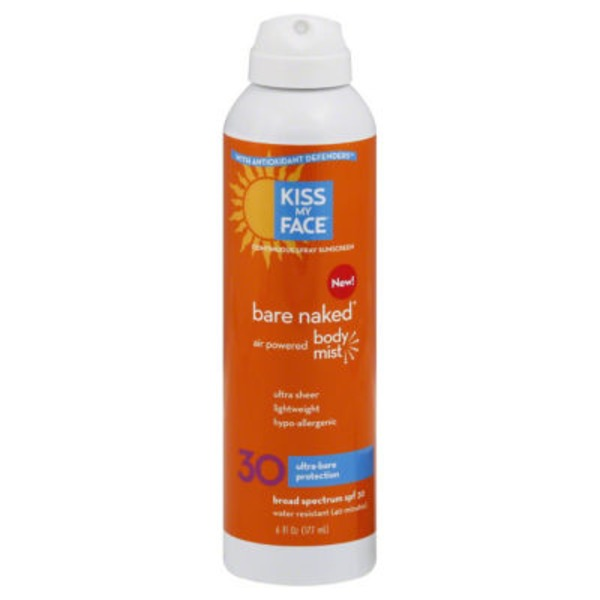 Kiss My Face Sunscreen Bare Naked Body Mist SPF 30