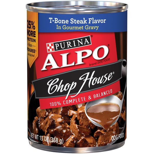 Alpo Wet Chop House T-Bone Steak Flavor in Gourmet Gravy Dog Food