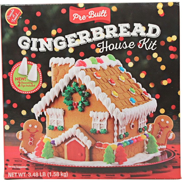 Create A Treat Pre Built Gingerbread House Kit