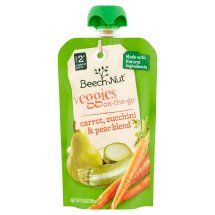 Beech-Nut Veggies On-The-Go Carrot, Zucchini & Pear Blend Baby Food Stage 2 6 Months and Up, 3.5 oz