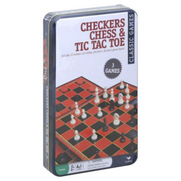 Cardinal Checkers Chess & Tic Tac Toe