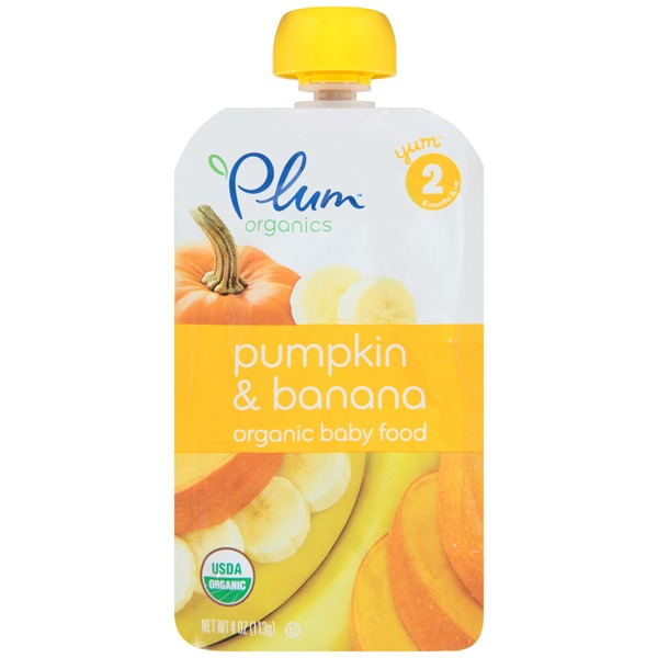 Plum Baby Stage 2 Pumpkin & Banana Organic Baby Food