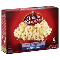 Orville Redenbachers Popping Corn Gourmet Movie Theater Butter Classic Bags - 6