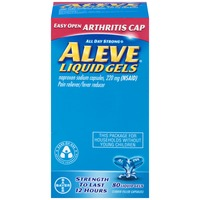 Aleve Arthritis Cap Naproxen Sodium 220mg Liquid Gels Pain Reliever