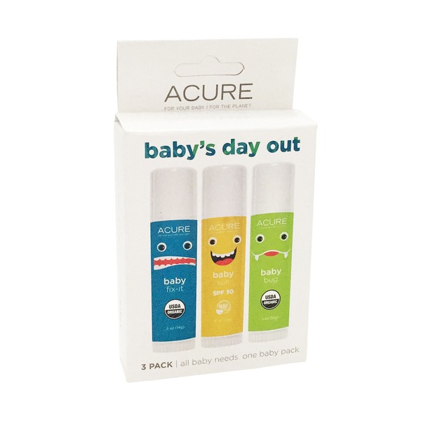 Acure Babys Day Out Kit Baby Balm, Sunscreen, Repellent pack