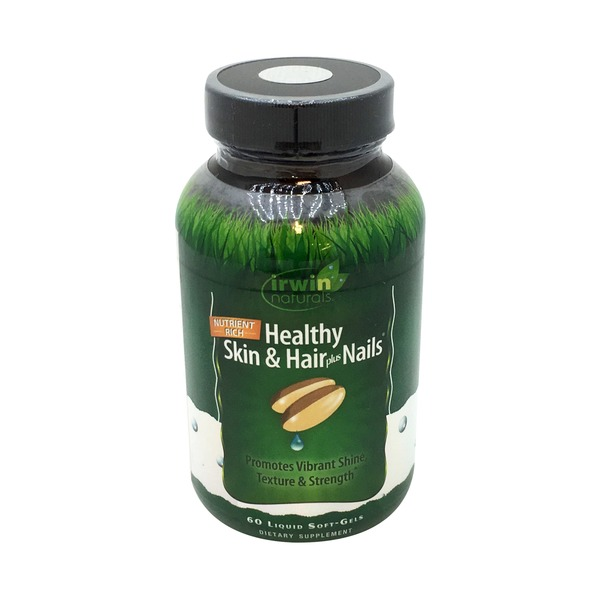 Irwin Naturals Healthy Skin & Hair Plus Nails Softgels