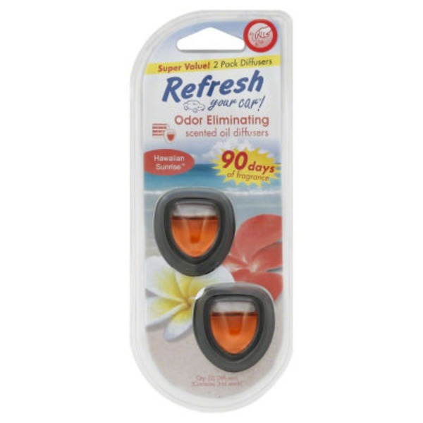 Refresh Your Car Scented Oil Diffuser, Hawaiian Sunrise
