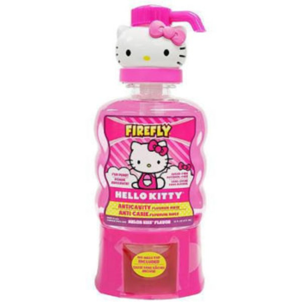 Firefly Hello Kitty Anticavity Fluoride Rinse Melon Kiss Flavor