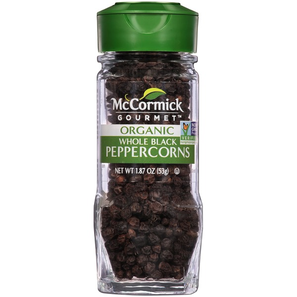 McCormick Gourmet Collection Organic Whole Black Peppercorns