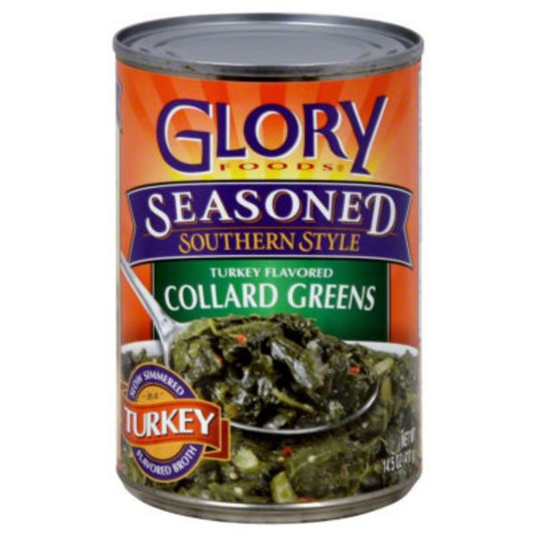 Glory Foods Seasoned Southern Style Collard Greens Turkey Flavored