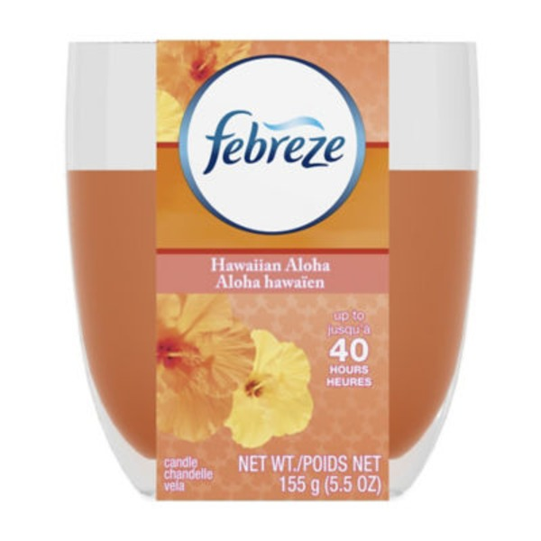 Febreze Candle Febreze Scented Candle Hawaiian Aloha Air Freshener (1 Count, 4.3 oz) Air Care
