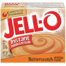 Jell-O Instant Pudding & Pie Filling Butterscotch, 3.4 Oz