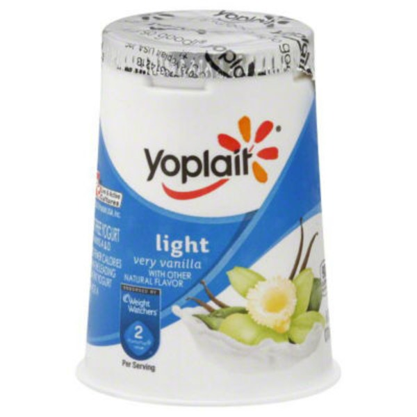 Yoplait Light Very Vanilla Fat Free Yogurt
