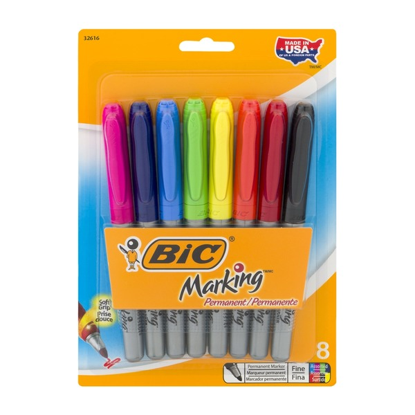 BiC Marking Permanent Fine Marker Assorted - 8 CT