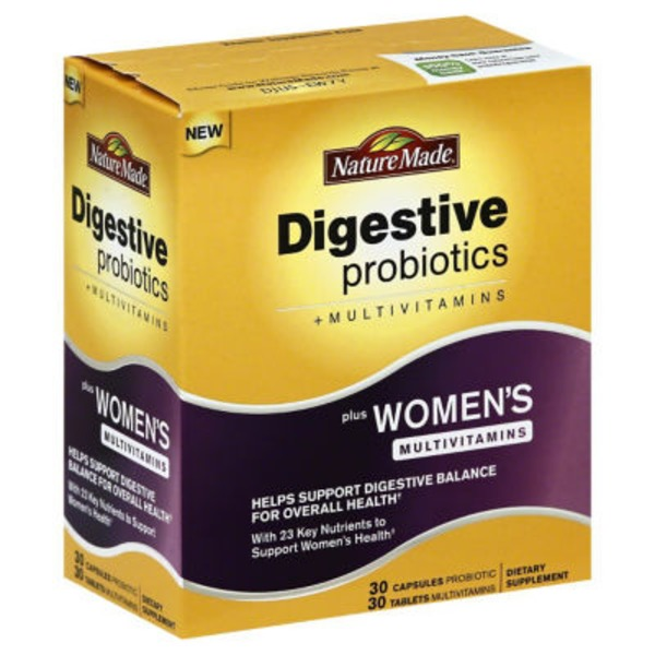 Nature Made Digestive Probiotics + Women's Multivitamin Capules