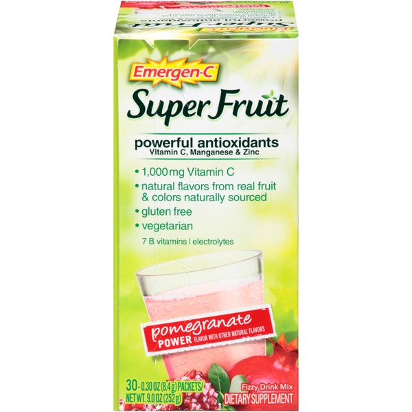 Emergen-C Super Fruit Pomegranate Power Drink Mix Dietary Supplement