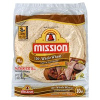 Mission 100% Whole Wheat Medium Soft Taco Flour Tortillas