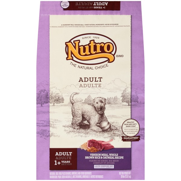 Nutro Adult Venison Meal Whole Brown Rice & Oatmeal Recipe Dog Food