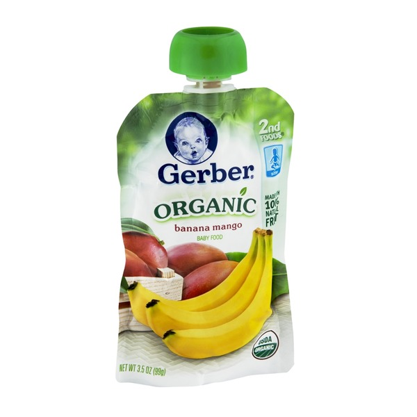 Gerber Organic 2 Nd Foods Fruit Banana Mango Baby Food