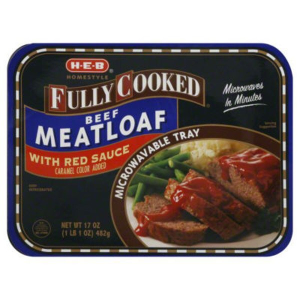 H-E-B Fully Cooked Beef Meatloaf with Red Sauce